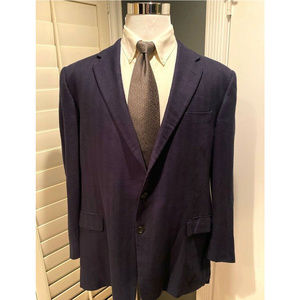 Hickey Freeman Two Button Pocket Blazer Size 46 R